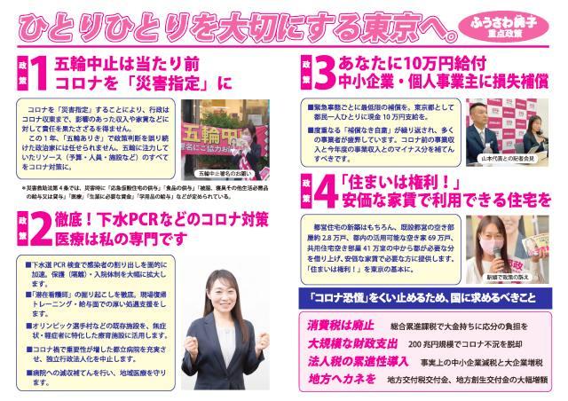 ふうさわ純子(れいわ新選組)チラシ v2裏面